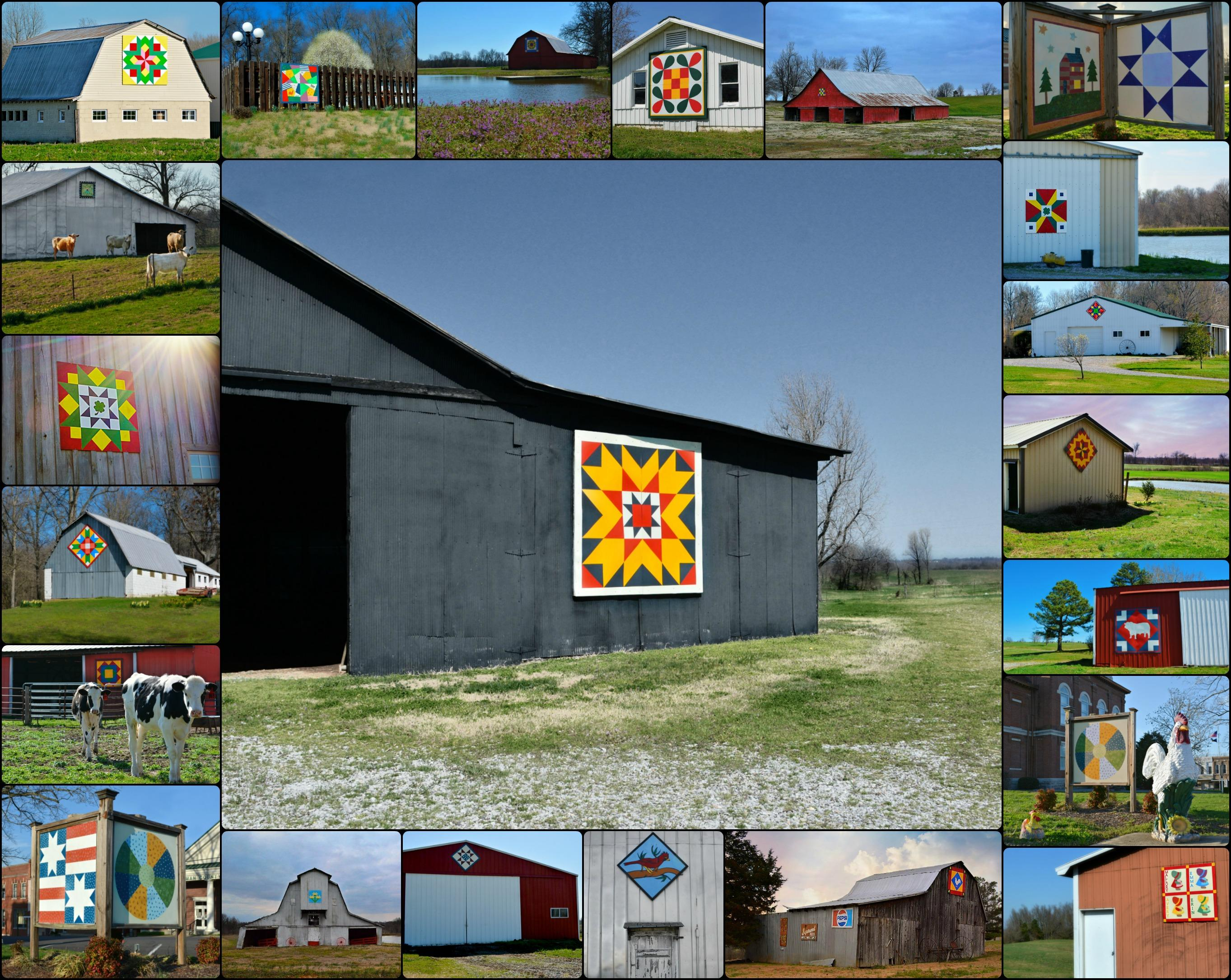 Hickman County Quilt Trail Collage