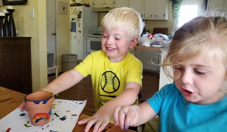 Families stay engaged with hands-on learning through take-home programming.