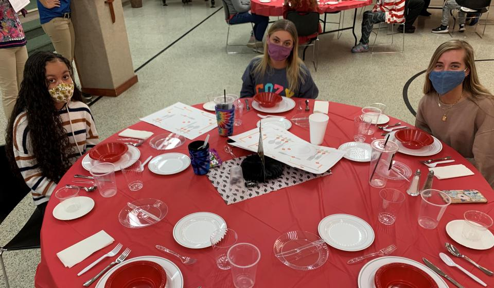 Student learn how to dine in style while increasing employability skills
